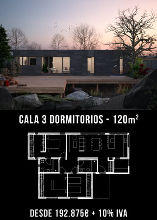 Casas prefabricadas. Cala 3 dormitorios. Atlántida Homes