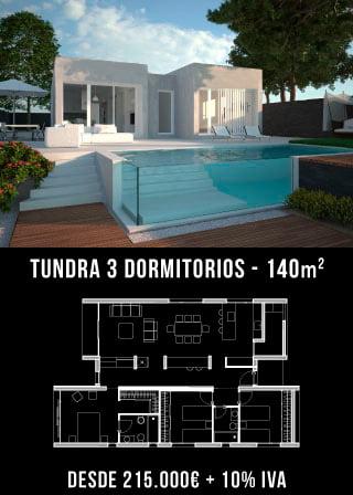 Casas prefabricadas. Tundra 3 dormitorios. Atlántida Homes