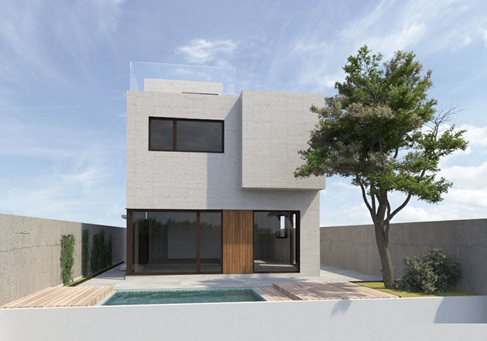 Casa modular de diseño personalizado en exclusivo barrio de Madrid