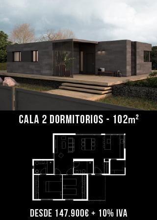 Casas prefabricadas. Cala 2 dormitorios.