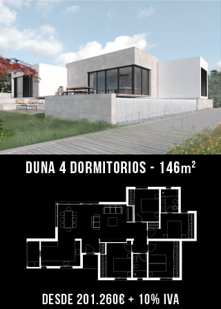 viviendas modulares. Duna 4 dormitorios. Atlántida Homes