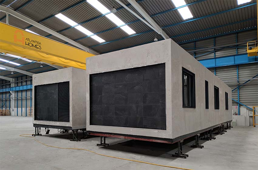 Construcción de una casa modular