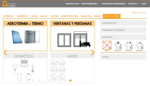 Configurador de Viviendas Atlántida Home instalaciones