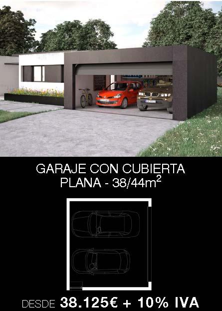Garaje prefabricado para vivienda unifamiliar