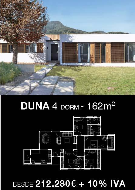 Casa industrializada. Duna 4 dormitorios y 3 baños