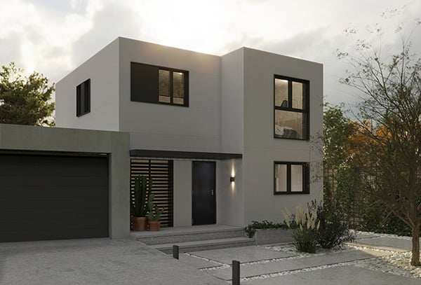 Fachada vivienda modular prefabricada Atlas Atlántida HOMES