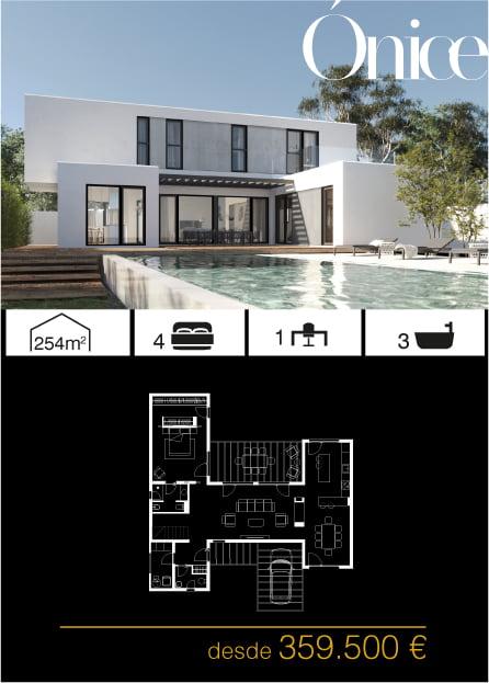 Casas prefabricadas de diseño. Arena 4 dormitorios y 3 baños