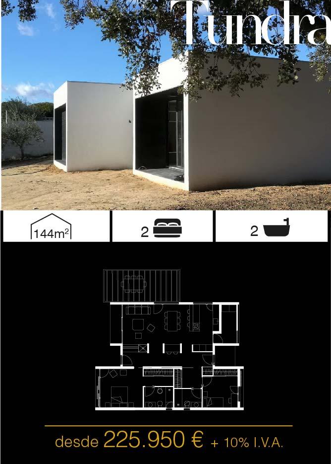 Casas prefabricadas. Tundra 2 dormitorios. Atlántida Homes