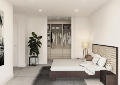 dormitorio principal vivienda Atlas Atlántida HOMES