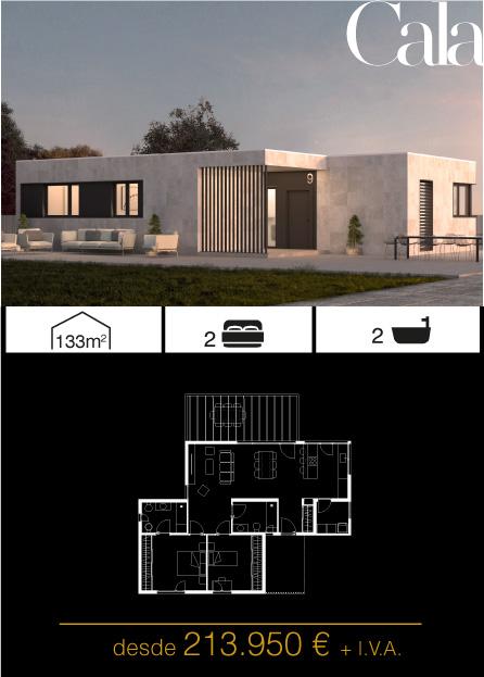 Modelo Cala 2 Atlántida HOMES vivienda industrializada