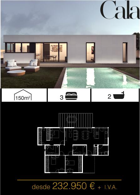 Modelo Cala 3 Atlántida HOMES vivienda industrializada