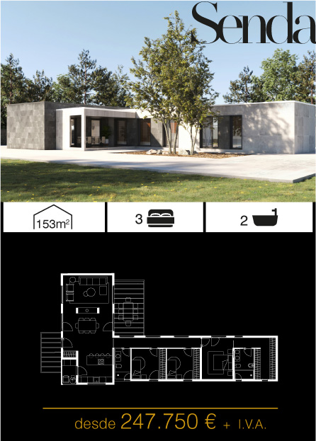 Modelo Senda Atlántida HOMES vivienda industrializada