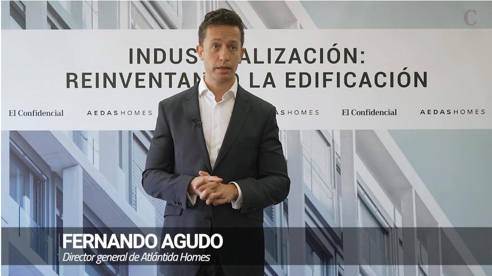 Fernando Agudo Director General de Atlántida HOMES en el encuentro  de AEDAS y El Confidencial sobre los retos de la Industrialización